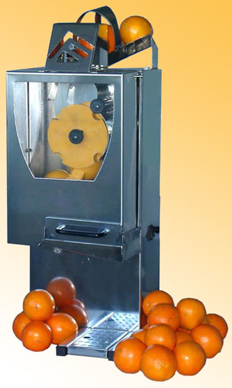 Presse orange automatique en inox for Presse agrume automatique